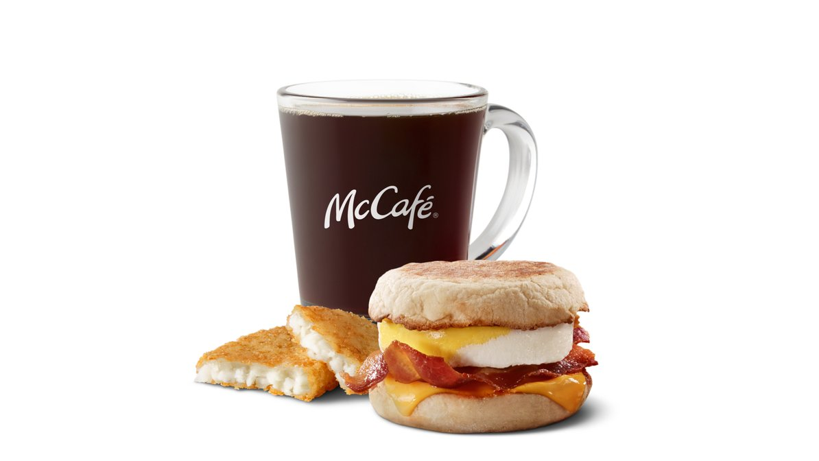 Bacon Egg Cheese McMuffin Meal in McDonald's