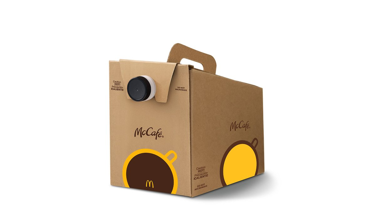 Box of Coffee in McDonald's