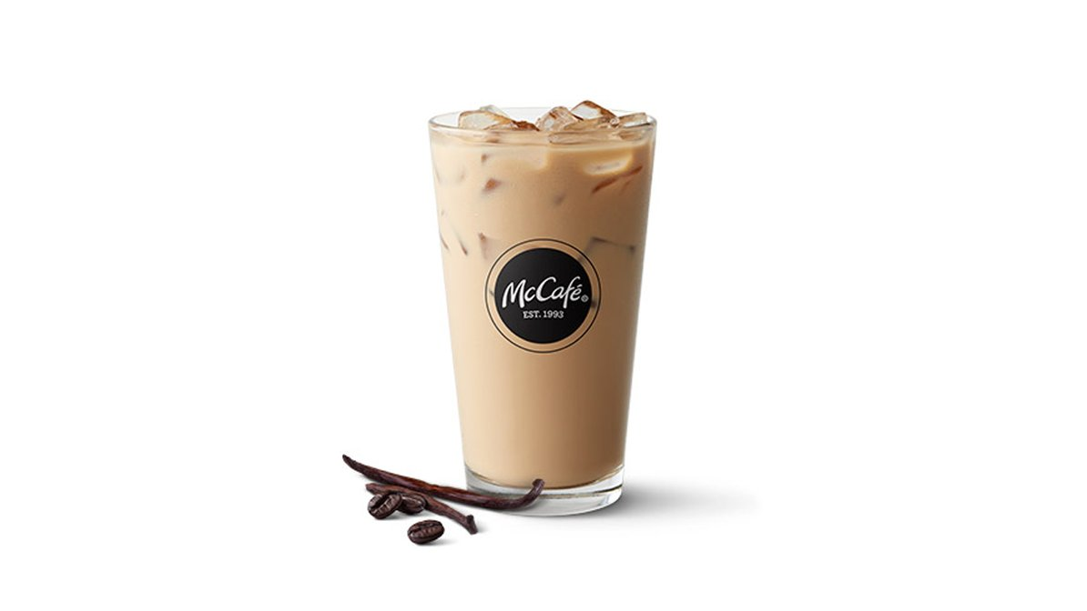 Iced French Vanilla Latte in McDonald's