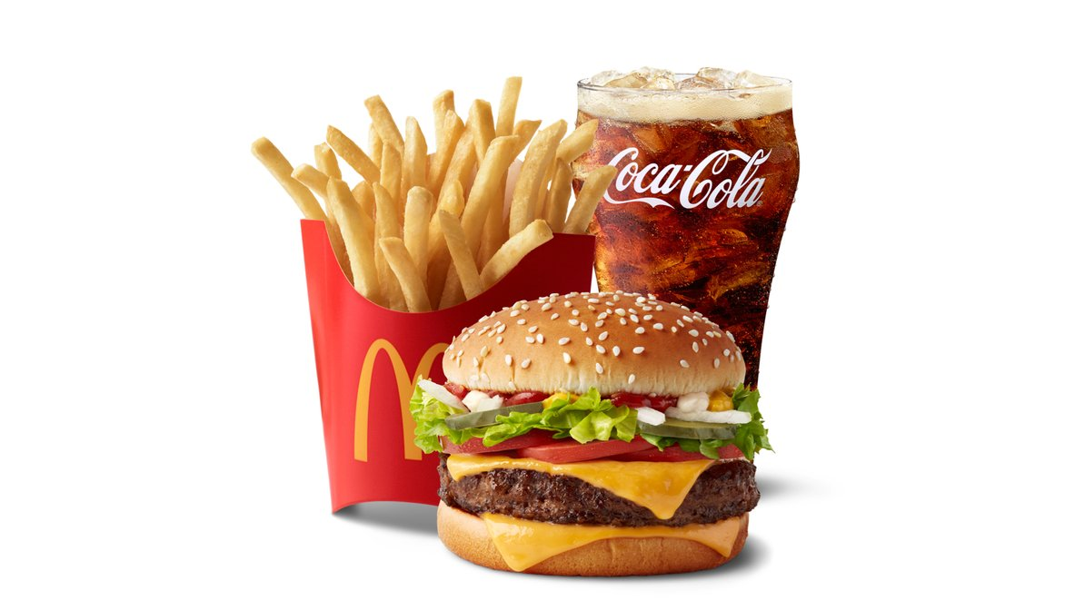 Quarter Pounder with Cheese Deluxe Meal in McDonald's