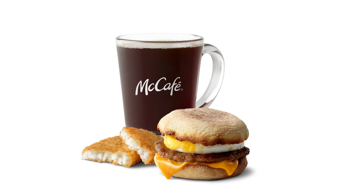 Sausage Egg McMuffin Meal in McDonald's
