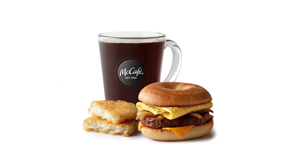 Steak Egg Cheese Bagel Meal in McDonald's