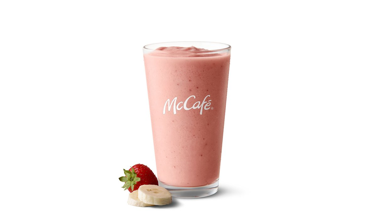 Strawberry Banana Smoothie in McDonald's